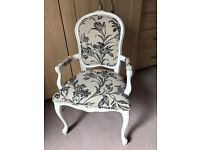 French Style chair newly upholstered to a high standard in Laura Ashley Lloyd fabric