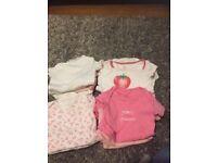Bundle of 16 baby girls vests 0-3 months