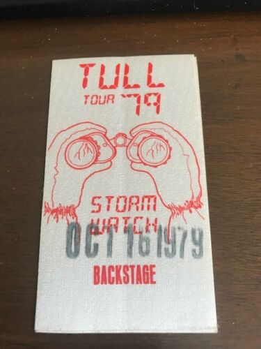 JETHRO TULL - Storm Watch Tour - 1979 - backstage pass -