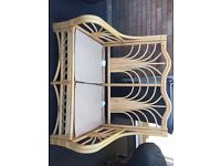 6 piece Bamboo style conservatory furniture set - Sofas, tables and unit
