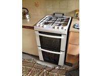 Zanussi gas cooker with 4 burner hob and gas double oven in good working order ready to take away.