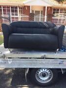 Black two seater sofa with Chrome legs Mentone Kingston Area Preview