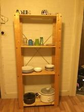 Wood shelving unit Brighton-le-sands Rockdale Area Preview