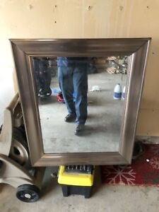 Decorative Mirror - Silver (Great for Bathroom/Living Room)