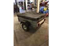 Galvanized box trailer