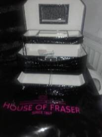 Faboulous New Large Black large Jewerlly Case House of Frazer