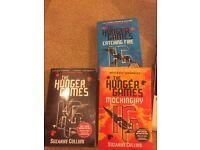 The Hunger Games trilogy - Catching Fire, Mockingjay, + 1st book