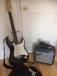 Fender Electric Guitar & Amp