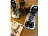 BT 4500 Big Button Cordless phone with answer phone and separate phone unit