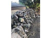 Free Stone/Rock! Garden wall / rockery!