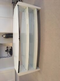 Glass/white TV Stand (John Lewis - 1 year old) excellent condition