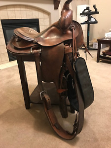 "One 14 1/2"" Western Ranch Saddle"
