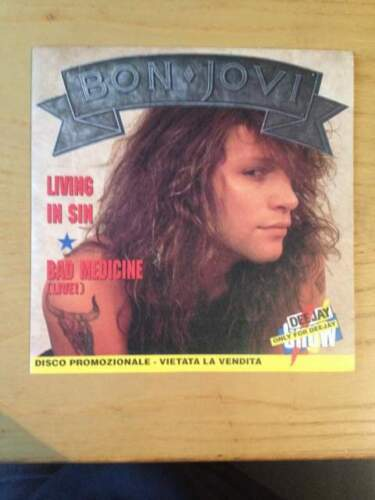 Bon Jovi - Living In Sin (singolo 7'') - hard rock