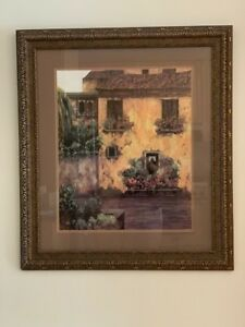 Home in Italian Village Oil Painting