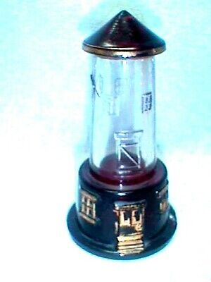 LIGHTHOUSE CANDY CONTAINER Antique Ruby RED Flash GOLD Highlights