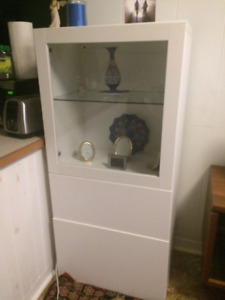 TWO Ikea BESTA cabinets - white