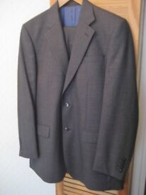 """JOHN LEWIS 100% WOOL SUIT GREY CHEST 38""""; REGULAR FIT. TROUSERS 34""""; WAIST, 31.5""""; LEG. HARDLY USED"""