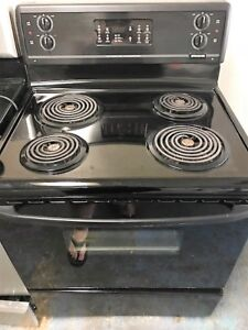 30 inch Stove Black  Excellent Condition with Warranty