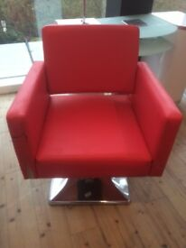 red leather swivel chair x 3