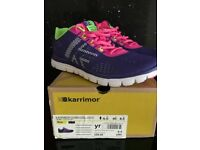 Ladies KARRIMOR Duma D30 Purple, Pink & Lime Trainers - Size 6.5 EU40 - Boxed As New Condition