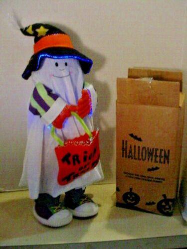 "Halloween Fiber optic Georgie the Ghost Greeter 22"" tall Avon-Lights Up w/Box"
