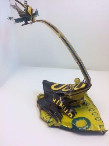 Frog License Plate Sculpture