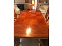 DINING ROOM TABLE & 6 CHAIRS FOR SALE - CHERRY WOOD - EXCELLENT CONDITION