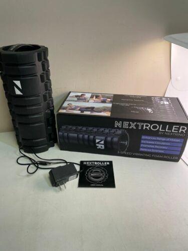 NextRoller By Nextrino Black Increases Circulation 3 Speed Vibrating Foam Roller