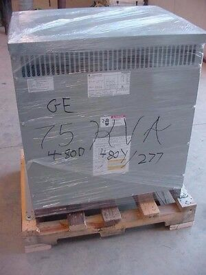 New G E 75 Kva Transformer 9t10c1174g06 480d Pri. 480y277 Sec. Copper