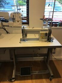 Industrial sewing machine suitable for general clothes and soft furnishings 1 year old £850