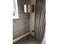 Next Mink Floor Lamp & Matching Table Lamp