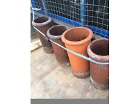 Chimney pots for sale ×4 20 pounds each all four for 70 pounds no chips or dents a real bargain
