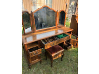 Quality Dressing Table - solid oak