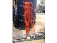 Plastic orange hoarding netting