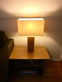 Side table + table lamp