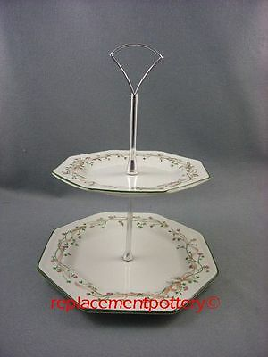 Johnson Brothers Eternal Beau 2 tier cake stand.