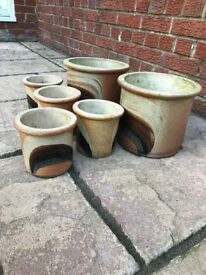 Ceramic Pots, two different sizes one group