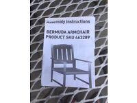 2 Garden Chairs, Hardwood. Very Good condition