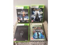 XBOX 360 GAMES X 4: BATMAN [Arkham Asylum] SKYRIM, CRACKDOWN & BATTLEFIELD 3