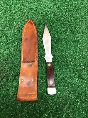 Olsen Ok Throwing Knife Sheath H.C., MI Fixed Blade Rare Vintage Collectible