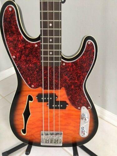 2011 Rare WATERSTONE Lulu SemiHollow Bass w/HSC - Tobacco Sunburst