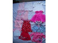 New and used clothes for girls 0-3 months