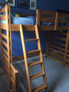 Beautiful wood bunk bed