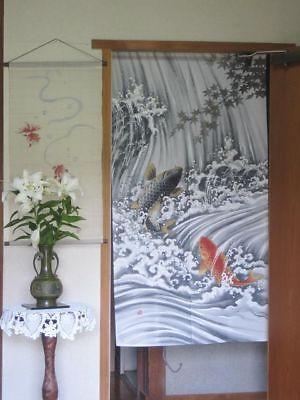 JAPANESE Noren Curtain KOI FISH NEW (Noren Koi)