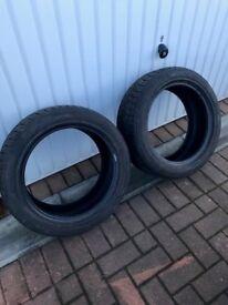 Winter Tyres x 2 Nankang Snow Viva SV-1 205/50 R16 87H Mud and snow