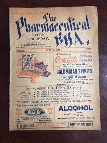 "1898, Coca-Cola, ""The Pharmaceutical ERA"" Magazine (RARE)"