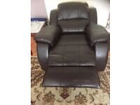 RECLINING CHAIR - CHOCOLATE BROWN