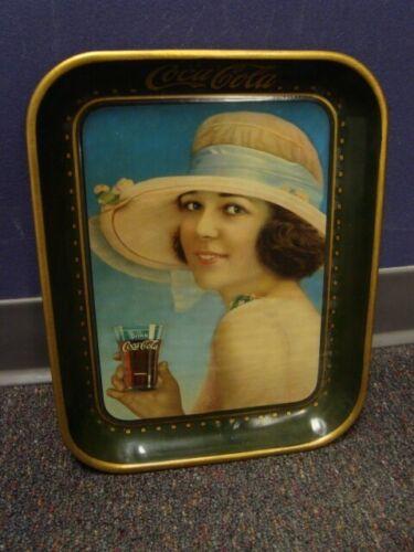 1921 Green-Checked Rim Coca-Cola Serving Tray