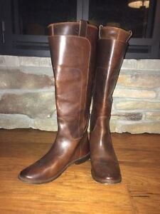 Frye Brown Tall Leather Boots