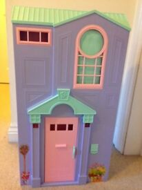 Barbie Doll's House with accessories, plus 4 dolls. Excellent condition